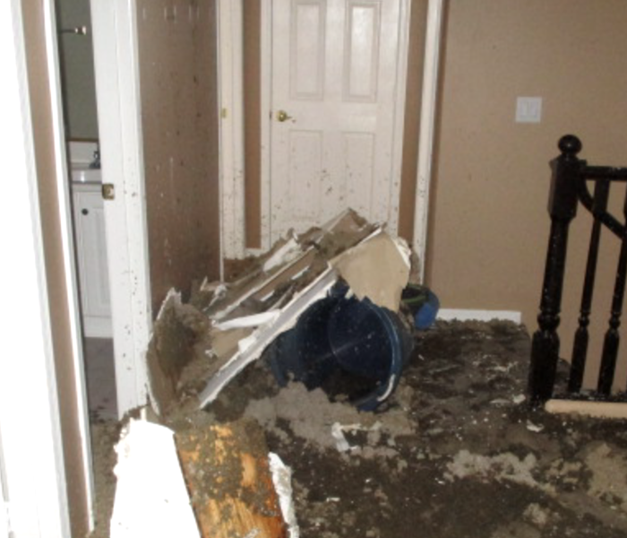 How does water damage affect flooring? Before